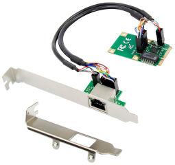 DIGITUS Carte réseau mini PCI Express Gigabit Ethernet